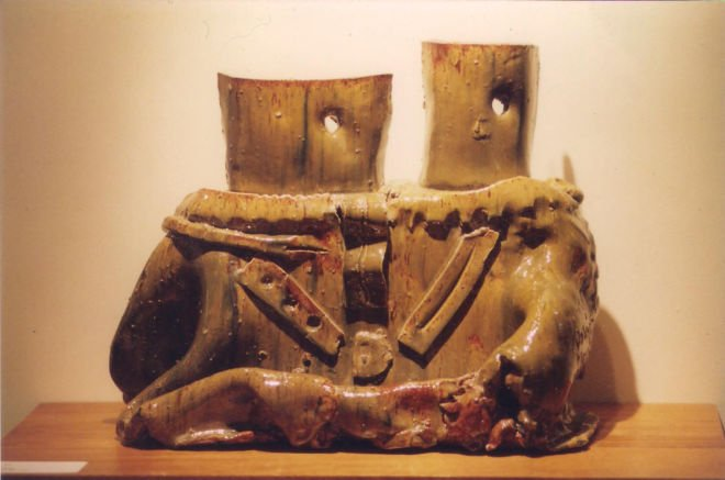 Ceramic Sculpture_King and Queen_1986