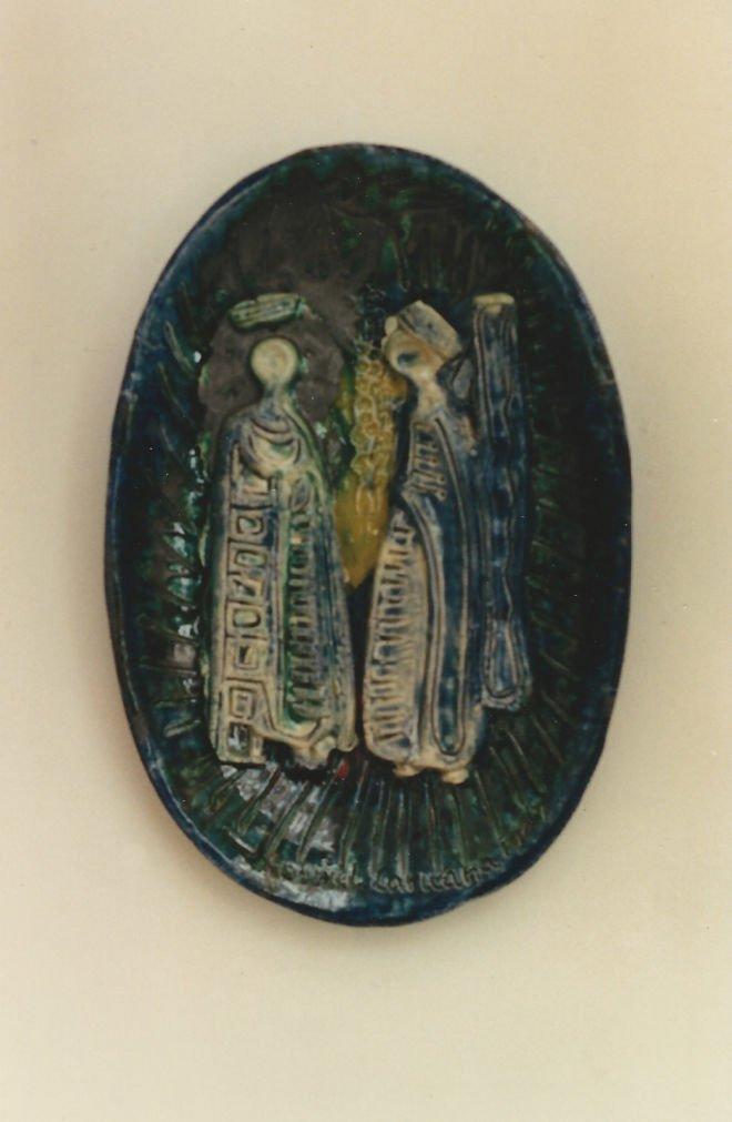 Gabriel Caruana Annunciation 1967 ceramic