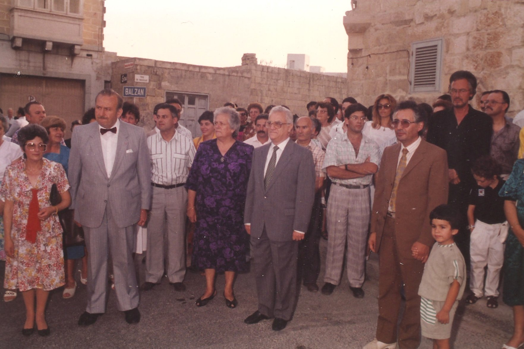 Photo showing people gathered for the launch of The Mill - Art, Culture and Crafts Centre on the 22nd of June 1990
